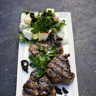 Lamb Chops with Winter Greek Salad