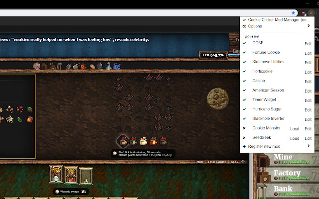 Cookie Clicker Mod Manager