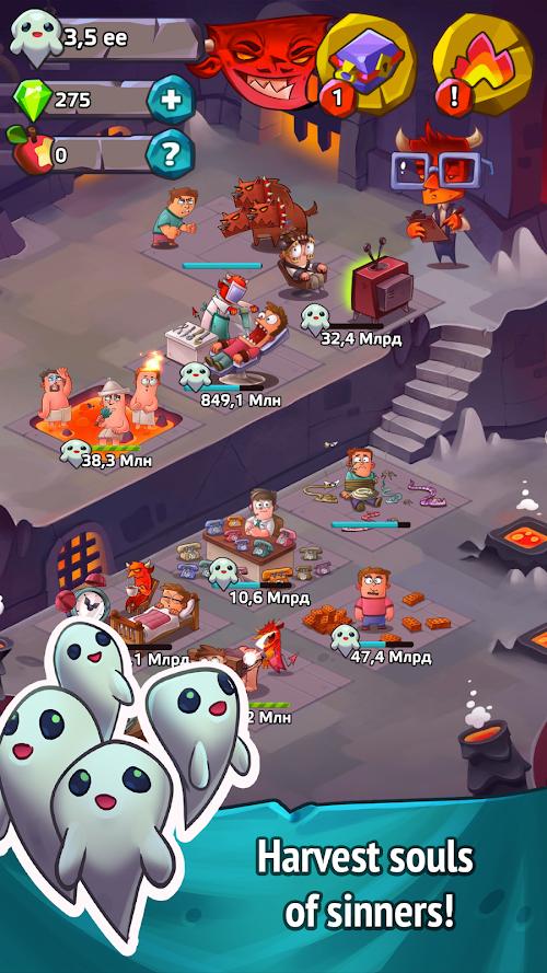 Screenshot 2 Idle Heroes of Hell - Clicker & Simulator Pro 1.3.4 APK MOD