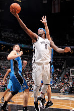Photo: BROOKLYN, NY - JANUARY 28: Andray Blatche #0 of the Brooklyn Nets shoots a layup against Nikola Vucevic #9 of the Orlando Magic on January 28, 2013 at the Barclays Center in the Brooklyn borough of New York City.  NOTE TO USER: User expressly acknowledges and agrees that, by downloading and or using this photograph, User is consenting to the terms and conditions of the Getty Images License Agreement. Mandatory Copyright Notice: Copyright 2013 NBAE  (Photo by Nathaniel S. Butler/NBAE via Getty Images)