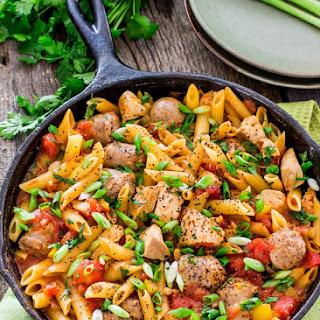 Chicken and Sausage Penne Jambalaya Recipe