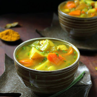 Cozy Chicken Curry Soup.