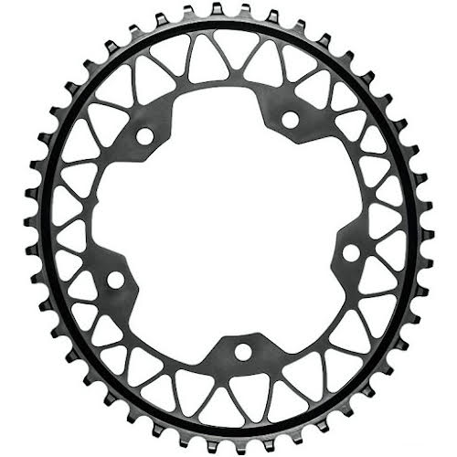 Absolute Black 46t Gravel 1X Oval Chainring 5x110BCD