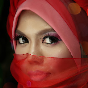 I See You by Sallehudin Ahmad - People Portraits of Women