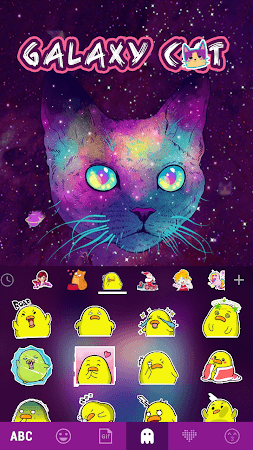 Galaxy Cat Emoji Kika Keyboard 1.0 screenshot 1061191