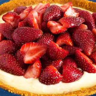 Diabetic No Bake Sugar Free Strawberry Cheesecake.