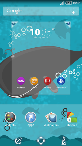 Whale UnderTheSea for Xperia™ Appar för Android screenshot