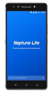Neptune Browser Lite: privating & fast interface - náhled