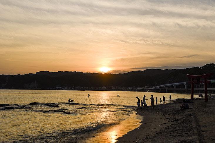 外浦中央海岸 夕日