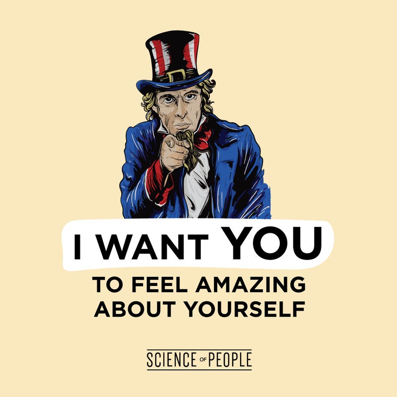 I want you to feel amazing about yourself graphic