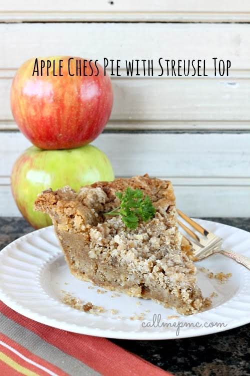"Apple Chess Pie with Streusel Top""The inside is creamy and rich, much..."