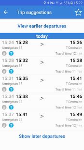 Res i STHLM: SL trip planner - náhled