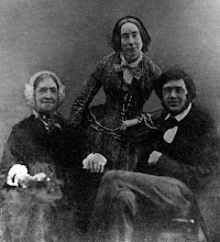 Photo: Alfred Russel Wallace, his sister Fanny & his mother in c. 1853-1854. Photographer: Unknown. First published in Shermer (2002). The original was almost certainly an ambrotype. Scanned with permission from an old print owned by the Wallace family. Copyright of scan: A. R. Wallace Memorial Fund & G. W. Beccaloni.