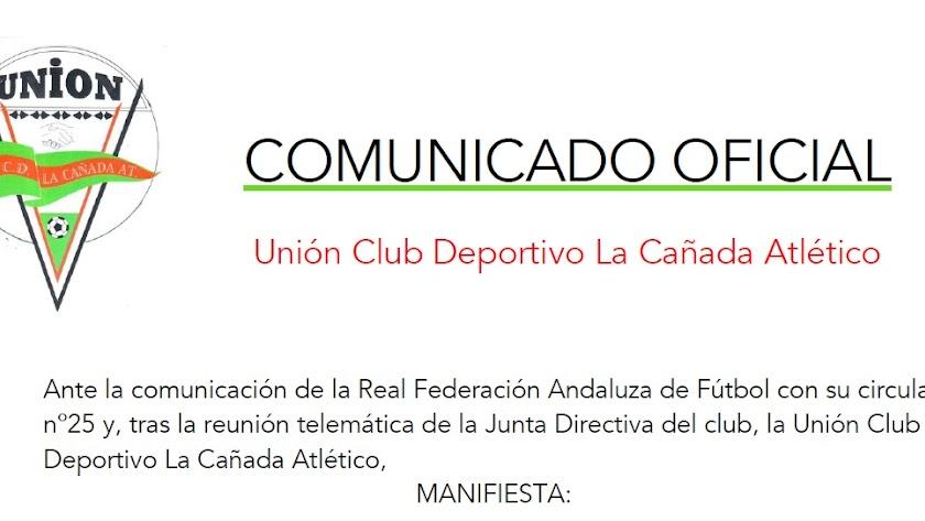 La Cañada no está conforme con la decisión de la RFAF.