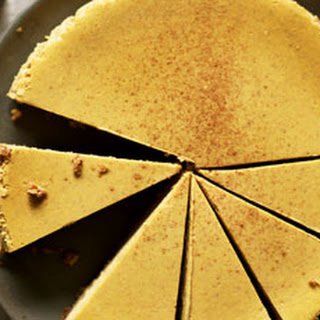 Gingerbread Pumpkin Cheesecake with Pecan Oat Crust
