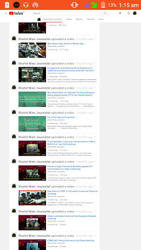 shahid wani journalist youtube channel for android