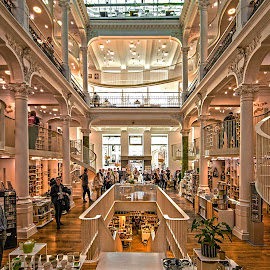 Inside the Bookstore by Richard Michael Lingo - Buildings & Architecture Other Interior ( bookstore, buildings, bucharest., architecture, interior )