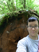 Photo: Note the tree's diameter is as tall as me!