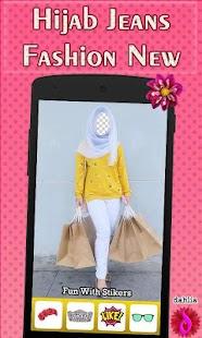 Hijab Jeans Fashion New Ekran Görüntüsü
