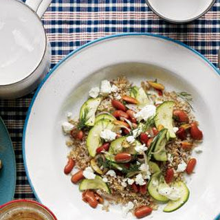 Zucchini and Bean Salad With Bulgur