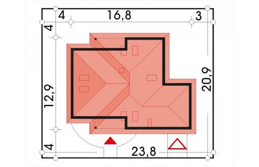 Akacja II wersja B z pojedynczym garażem - Sytuacja