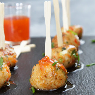 Asian Chicken Meatballs.
