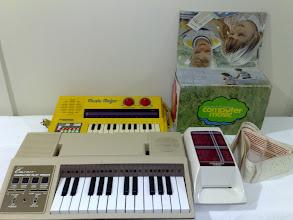 Photo: Emenee Computer Play Organ, Vtech Music Major, Computer Music (plays sheet music, mechanical just using the word 'computer', kinda like the Emenee)