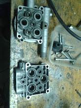 Photo: Componentes limpios de la bomba.