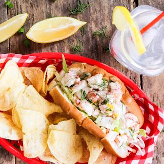 Shrimp Rolls with Lemon Herb Mayo