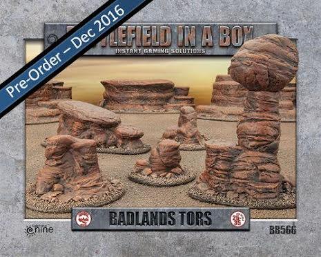Badlands Tors - Mars (x5) - 30mm