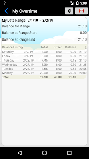 My Overtime - Time & Attendance tracking Screenshot