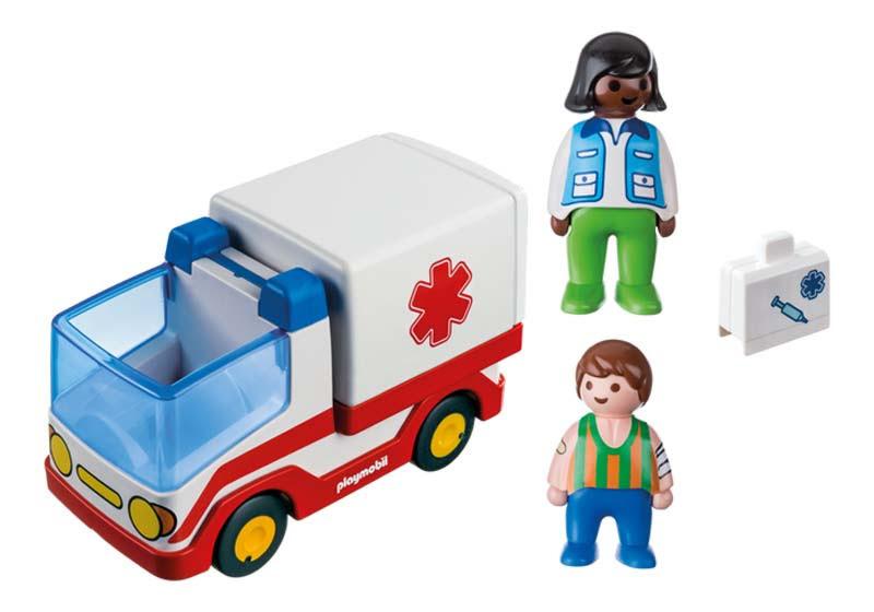 Contenido real de Playmobil® 9122 Ambulancia