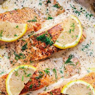 Pan Seared Salmon with a Creamy Lemon Dill Sauce Recipe