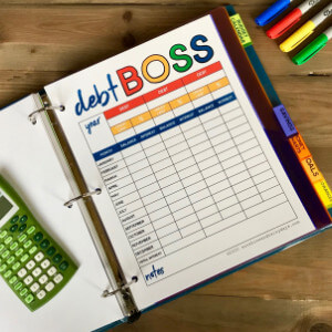 Debt Boss Worksheet