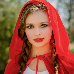Red Riding Hood by Michele Dan - People Portraits of Women ( little red riding hood, red, red riding hood, portraits of women, portraits, portrait )