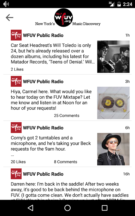 WFUV- screenshot