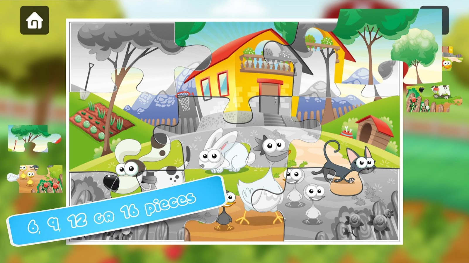 Farm Jigsaw Puzzles for kids & toddlers 🌸🍄🐮- screenshot