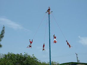 Photo: Pole flyers at Tulum