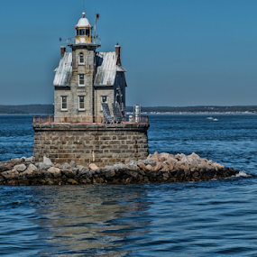 Lighthouse in Connecticut by Gwen Paton - Buildings & Architecture Public & Historical ( ct, lighthouse )