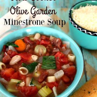 Slow Cooker Olive Garden Minestrone Soup Copycat