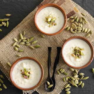 Indian Sweets - Classic Cardamom and Rosewater Kheer.