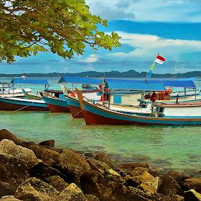 boats by Hatdy Tridjaja - Transportation Boats