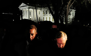 Photo: WASHINGTON, DC - APRIL 6:  House Speaker John Boehner (L) and Senate Majority Leader Harry Reid make a statement after meeting with President Barack Obama at the White House April 6, 2011 in Washington, DC. President Obama  invited back House Speaker John Boehner and Senate Majority Leader Harry Reid for a late meeting Wednesday night to discuss ongoing negociations on a funding bill to bring us through the end of the fiscal year. (Photo by Olivier Douliery-Pool/Getty Images) *** Local Caption *** Harry Reid;John Boehner