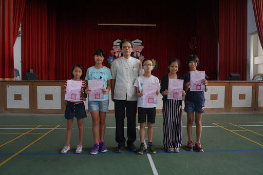 語文競賽頒獎暑假作業優良頒獎