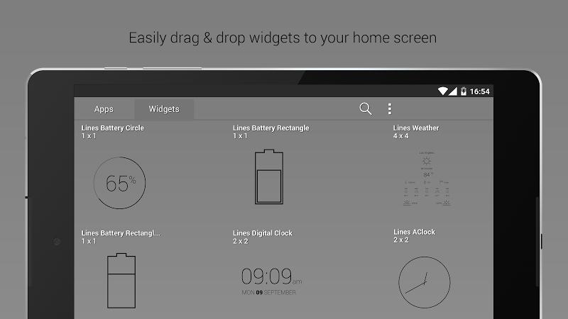 Lines Dark - Flat Black Icons (Pro Version) Screenshot 14
