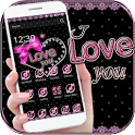 Pink Lace Love Bow Theme Wallpaper icon