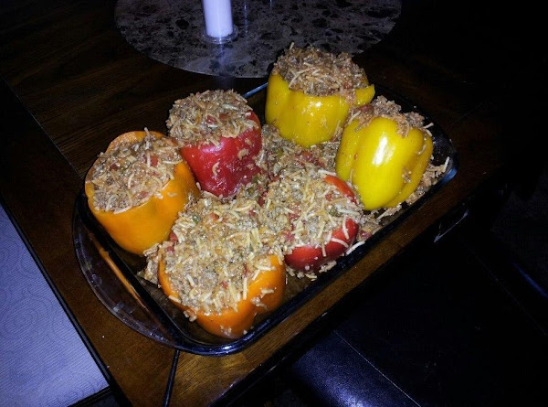 Easy Spanish Rice Stuffed Bell Peppers Recipe
