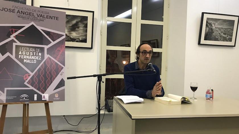 Agustín Fernández Mallo esta semana en el CIP.