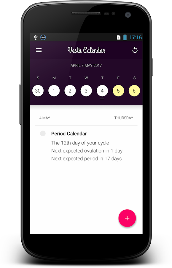Menstrual Cycle Diary- screenshot