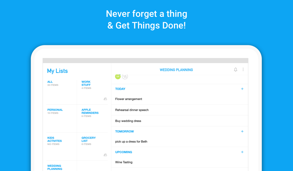 Screenshots of To-do list, Task List - Any.do for iPhone